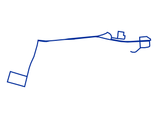 Map showing location of Parramatta Blue Route