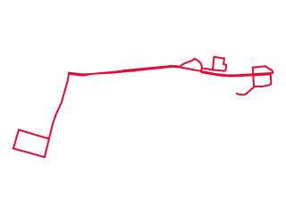 Map showing location of Parramatta Red Route
